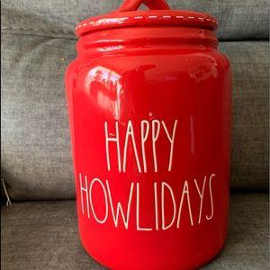 🆕🎄🐶 Rae Dunn Happy Howeldays Christmas canister